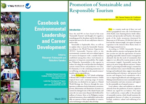 Casebook on Environmental Leadership and Career Development. The Coron Initiative - promoting Sustainable and Responsible Tourism