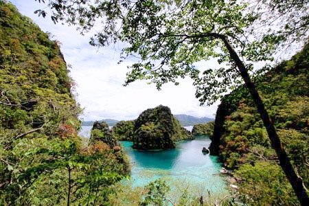 Iconic Kayangan Cove. Photo taken from Kayangan View Point, Coron Island