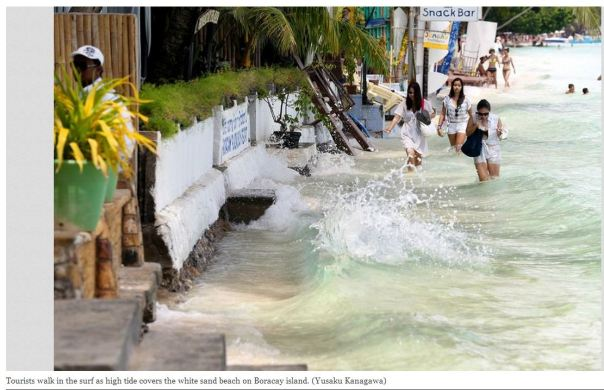 Boracay White Beach is gone! Photo via The Asahi Shimbun