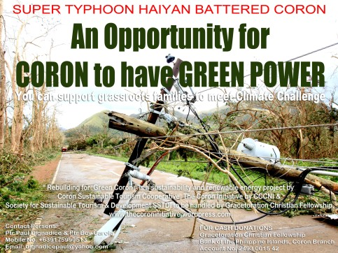 The Coron Initiative espouses Clean and Renewable Energy to mitigate effects of  vulnerable Coron & Calamianes islands.