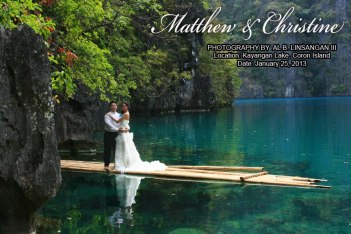 Kayangan Lake Wedding & Coron Honeymoon.