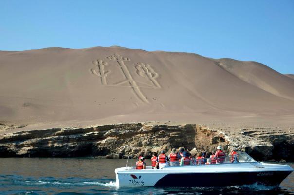 "Viewing Nazca Lines - ""Candelabro"" on the desert. Photo via Visit Peru."