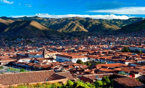 Cusco, ancient capital of the Incan empire (that's South America, folks).